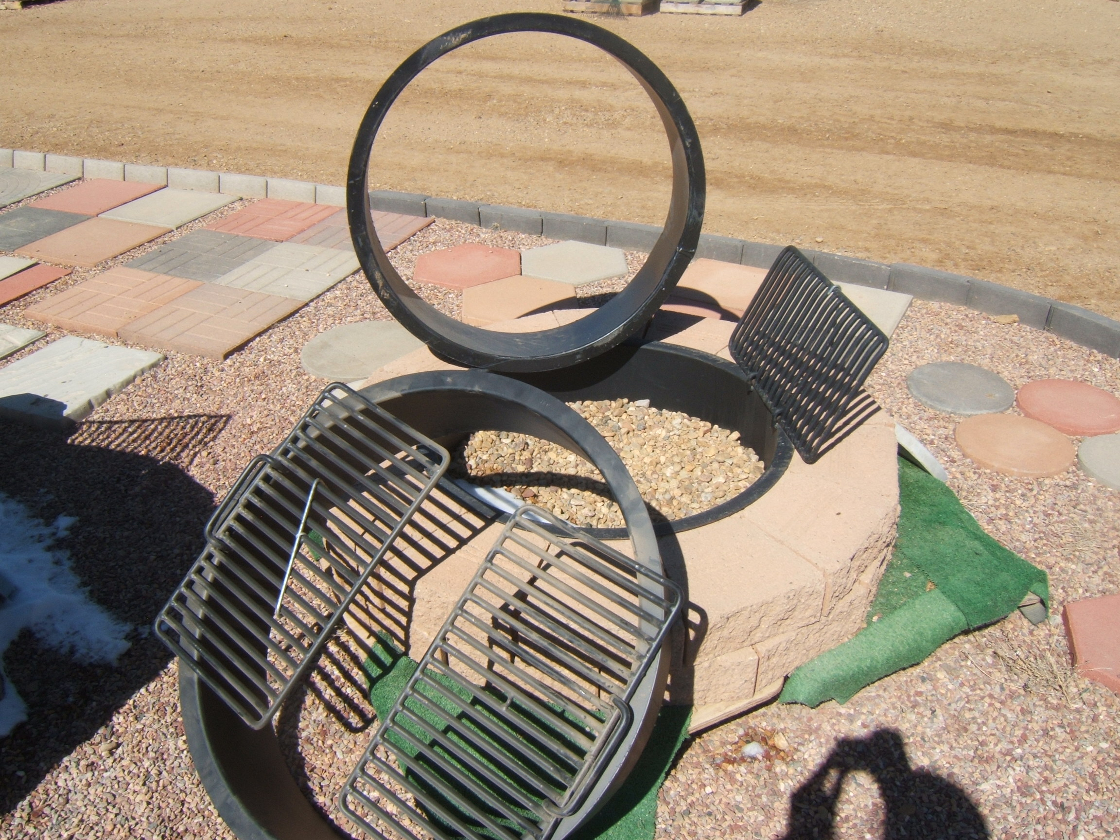 "Fire Ring Insert, 32"" Inside Diameter, 2 Grates"