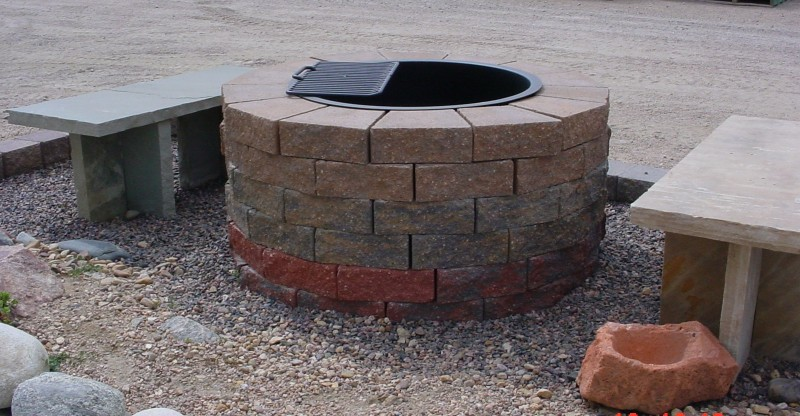 Fire Pit Built with Pyzique blocks